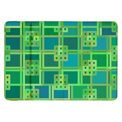 Green Abstract Geometric Samsung Galaxy Tab 8.9  P7300 Flip Case