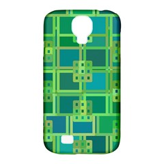 Green Abstract Geometric Samsung Galaxy S4 Classic Hardshell Case (pc+silicone)
