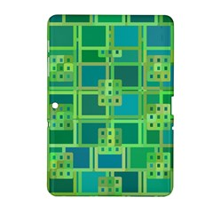 Green Abstract Geometric Samsung Galaxy Tab 2 (10 1 ) P5100 Hardshell Case