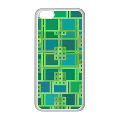 Green Abstract Geometric Apple Iphone 5c Seamless Case (white)