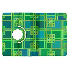 Green Abstract Geometric Kindle Fire Hdx Flip 360 Case