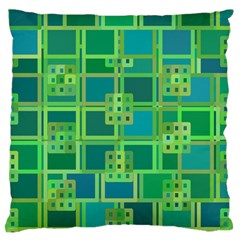Green Abstract Geometric Standard Flano Cushion Case (two Sides)