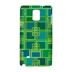 Green Abstract Geometric Samsung Galaxy Note 4 Hardshell Case