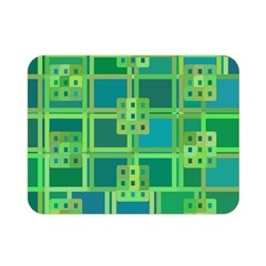 Green Abstract Geometric Double Sided Flano Blanket (mini)