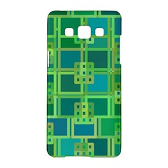 Green Abstract Geometric Samsung Galaxy A5 Hardshell Case