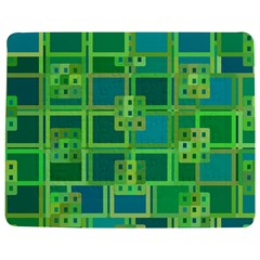 Green Abstract Geometric Jigsaw Puzzle Photo Stand (Rectangular)