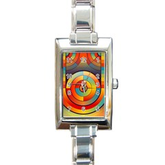 Abstract Pattern Background Rectangle Italian Charm Watch