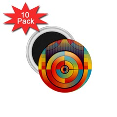 Abstract Pattern Background 1.75  Magnets (10 pack)