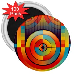 Abstract Pattern Background 3  Magnets (100 Pack)