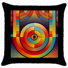Abstract Pattern Background Throw Pillow Case (Black)