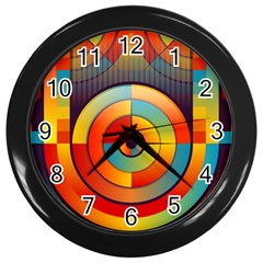 Abstract Pattern Background Wall Clocks (black)