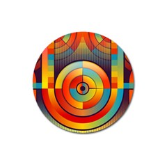 Abstract Pattern Background Magnet 3  (round)