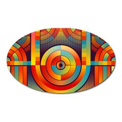 Abstract Pattern Background Oval Magnet