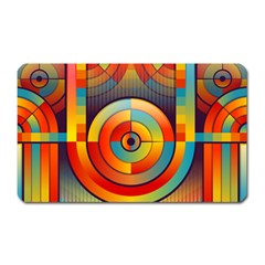 Abstract Pattern Background Magnet (Rectangular)