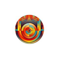 Abstract Pattern Background Golf Ball Marker