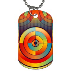 Abstract Pattern Background Dog Tag (two Sides)