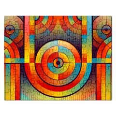 Abstract Pattern Background Rectangular Jigsaw Puzzl