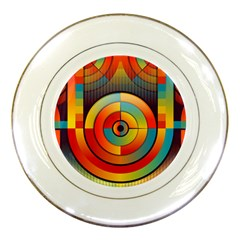 Abstract Pattern Background Porcelain Plates