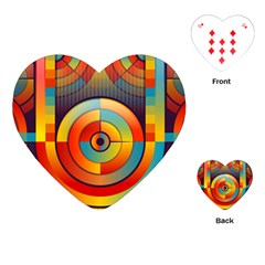 Abstract Pattern Background Playing Cards (heart)