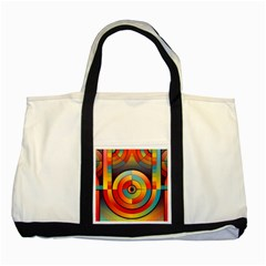 Abstract Pattern Background Two Tone Tote Bag