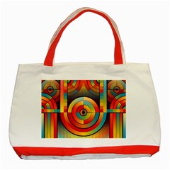 Abstract Pattern Background Classic Tote Bag (Red)