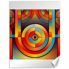 Abstract Pattern Background Canvas 36  X 48