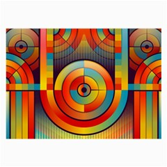 Abstract Pattern Background Large Glasses Cloth