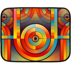 Abstract Pattern Background Double Sided Fleece Blanket (mini)