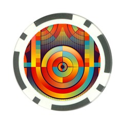 Abstract Pattern Background Poker Chip Card Guard (10 pack)