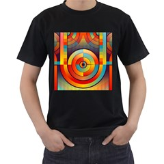 Abstract Pattern Background Men s T-Shirt (Black)