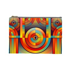 Abstract Pattern Background Cosmetic Bag (Large)