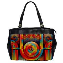 Abstract Pattern Background Office Handbags