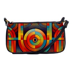 Abstract Pattern Background Shoulder Clutch Bags