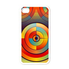 Abstract Pattern Background Apple Iphone 4 Case (white)