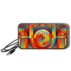 Abstract Pattern Background Portable Speaker (Black)