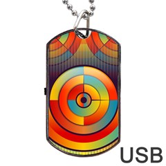 Abstract Pattern Background Dog Tag USB Flash (One Side)