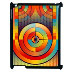 Abstract Pattern Background Apple iPad 2 Case (Black)