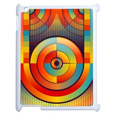 Abstract Pattern Background Apple iPad 2 Case (White)