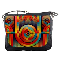Abstract Pattern Background Messenger Bags