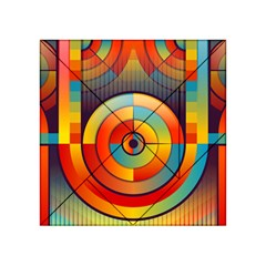 Abstract Pattern Background Acrylic Tangram Puzzle (4  X 4 )