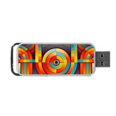 Abstract Pattern Background Portable USB Flash (Two Sides)
