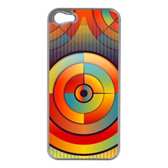 Abstract Pattern Background Apple Iphone 5 Case (silver)