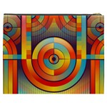 Abstract Pattern Background Cosmetic Bag (XXXL)  Back