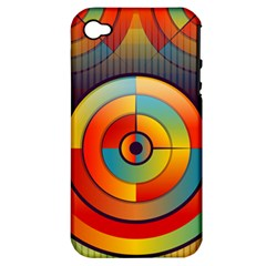 Abstract Pattern Background Apple Iphone 4/4s Hardshell Case (pc+silicone)