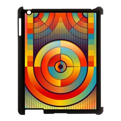 Abstract Pattern Background Apple Ipad 3/4 Case (black)