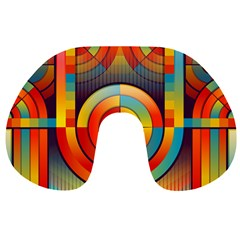 Abstract Pattern Background Travel Neck Pillows