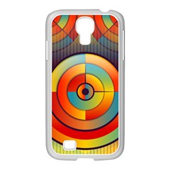 Abstract Pattern Background Samsung GALAXY S4 I9500/ I9505 Case (White)
