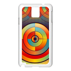 Abstract Pattern Background Samsung Galaxy Note 3 N9005 Case (White)