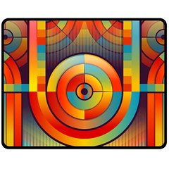 Abstract Pattern Background Double Sided Fleece Blanket (medium)