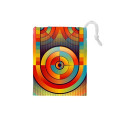 Abstract Pattern Background Drawstring Pouches (small)